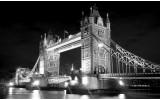 Fotobehang London, Brug | Zwart | 152,5x104cm