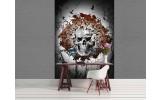 Fotobehang Papier Alchemy, Gothic   Bruin   184x254cm