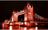 Fotobehang Papier London, Brug | Rood | 254x184cm