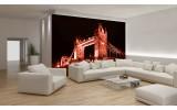 Fotobehang London, Brug | Rood | 312x219cm