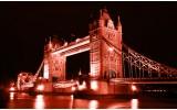 Fotobehang Vlies | London, Brug | Rood | 368x254cm (bxh)