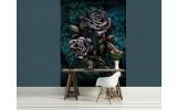 Fotobehang Rozen, Bloemen | Turquoise | 206x275cm