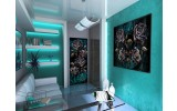 Fotobehang Alchemy Gothic | Turquoise | 91x211cm