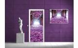 Deursticker Muursticker Bloemen   Paars   91x211cm