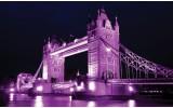 Fotobehang Vlies   London   Paars   368x254cm (bxh)
