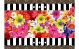 Fotobehang Vlies | Bloemen, Kleurrijk | Rood | 368x254cm (bxh)