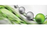 Fotobehang Design | Groen, Zilver | 250x104cm