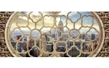 Fotobehang Skyline, Muur   Grijs   250x104cm