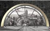Fotobehang Papier Skyline, Modern | Grijs | 254x184cm