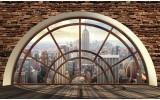 Fotobehang Skyline, Modern | Bruin | 104x70,5cm