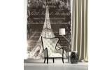 Fotobehang Papier Parijs, Eiffeltoren | Bruin | 184x254cm