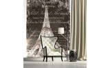 Fotobehang Eiffeltoren | Bruin | 206x275cm