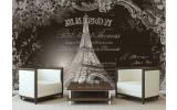 Fotobehang Eiffeltoren, Parijs | Sepia | 208x146cm