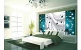 Fotobehang Modern | Zilver, Turquoise | 152,5x104cm