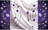 Fotobehang Modern | Paars, Zilver | 312x219cm