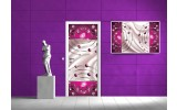 Deursticker Muursticker Abstract | Roze | 91x211cm