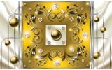 Fotobehang Modern, Slaapkamer | Zilver, Geel | 312x219cm