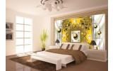 Fotobehang Modern, Slaapkamer | Zilver, Geel | 208x146cm