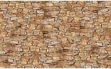 Fotobehang Muur, Stenen | Bruin | 312x219cm