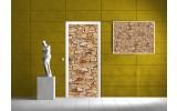 Deursticker Muursticker Muur | Geel | 91x211cm