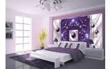 Fotobehang Modern, Slaapkamer | Paars, Zilver | 208x146cm