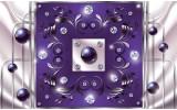 Fotobehang Vlies | Modern, Slaapkamer | Paars, Zilver | 368x254cm (bxh)
