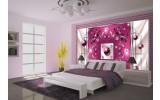 Fotobehang Modern, Slaapkamer | Roze, Zilver | 152,5x104cm
