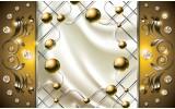 Fotobehang Papier Modern, Slaapkamer | Zilver, Goud | 368x254cm
