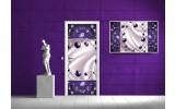 Deursticker Muursticker Abstract   Paars   91x211cm