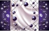 Fotobehang Vlies | Modern, Slaapkamer | Zilver, Paars | 368x254cm (bxh)