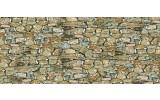 Fotobehang Stenen, Muur | Grijs | 250x104cm