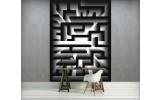 Fotobehang 3D, Design | Zwart | 206x275cm