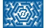 Fotobehang Vlies | Design | Blauw | 368x254cm (bxh)