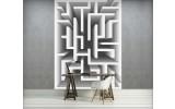 Fotobehang Papier 3D | Wit, Grijs | 184x254cm