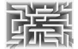 Fotobehang Vlies   Design, Doolhof   Grijs   368x254cm (bxh)