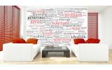Fotobehang Papier Muurteksten | Rood, Zwart | 368x254cm