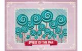 Fotobehang Snoepjes | Roze, Turquoise | 312x219cm
