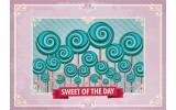 Fotobehang Vlies | Snoepjes | Roze, Turquoise | 368x254cm (bxh)