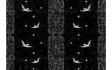 Fotobehang Papier Vogels | Zwart | 368x254cm