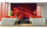 Fotobehang Design | Rood, Zwart | 104x70,5cm