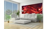 Fotobehang Design | Rood, Zwart | 250x104cm