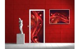 Deursticker Muursticker Abstract | Rood | 91x211cm