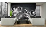 Fotobehang Papier Design | Zilver | 254x184cm