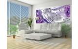 Fotobehang Design, Rozen   Zilver, Paars   250x104cm