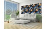 Fotobehang Design | Bruin, Blauw | 250x104cm