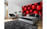 Fotobehang Papier Modern | Rood, Zwart | 254x184cm