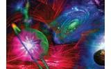 Fotobehang Vlies | Planeten | Blauw, Rood | 368x254cm (bxh)