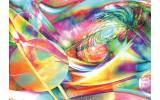 Fotobehang Papier Planeten, Abstract | Geel, Groen | 368x254cm