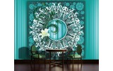 Fotobehang Bloem, Modern | Turquoise | 104x70,5cm