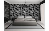 Fotobehang Papier Bloemen, Slaapkamer | Zwart, Wit | 368x254cm